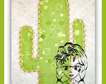 CACTUS Prickly Cacti Desert Cowboy Cowgirl Applique Theme  - INSTANT Download Machine Embroidery Design by Carrie