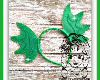 SWAMP THiNG EaRS FiNS ~ (2 Piece) Character Inspired Headband ~ In the Hoop ~ Downloadable DiGiTaL Machine Emb Design by Carrie