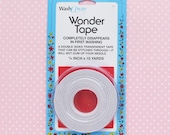 Wonder Tape 1/4 Inch Wide | Water Soluble Wash Away Double Sided Sewing Tape