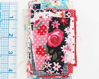 Tiny Scraps 1 Ounce Grab Bag of Quilting Cotton Print Fabric Scraps for Postage Stamp Quilts Patchwork Fabric Beads