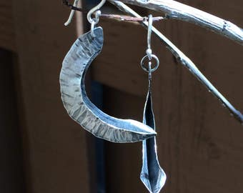 Foldformed Pod Earrings - Sterling Silver