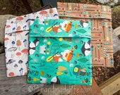 Set of three reusable sandwich or snack bags || Eco Friendly Sandwich Lunch Storage | Eco Lunch Bag | Food Storage Bag | Washable Lunch Bags