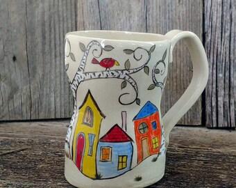 Handmade Ceramic Mug, Ceramic Coffee Cup, Pottery Mug, Pottery Cup, Pottery Coffee Cup, Handmade Mug, Whimsical Coffee Cup, Whimsical mug