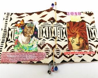 Dynamic Dames Book One, calendar book, handmade paper book, calender,women's issues,women's voices, political book,quotes by women, art book