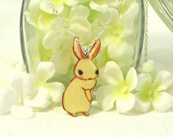 White Bunny Rabbit Necklace Blanco - Bunny Pendant - Rabbit Jewelry - Bunny Rabbit Inspired - Pet Bunny - Rabbit Pendant - Bunny Jewelry
