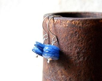 Kyanite Cairn Earrings - Kyanite Earrings - Cairn Earrings - gemstone earrings - Cairn Jewelry - stone earrings