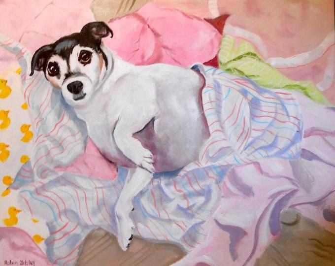 Pet Portrait Painting, Expressive Fine Art Oils on Canvas Dog Portrait