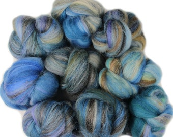Rain drop -- mini batts (2 oz.) merino wool, silk, bamboo, sparkle
