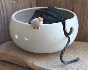 Handmade Sheep Yarn Bowl - Custom Made 4-6 Weeks