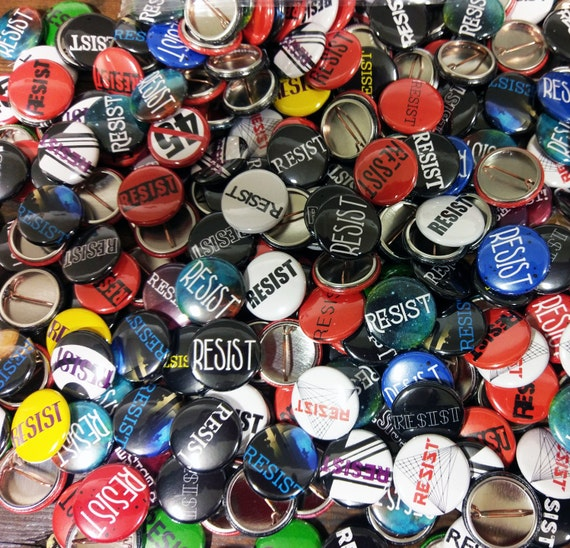 "Resistance Grab Bag 1"" buttons - quantity of 50 or 100"