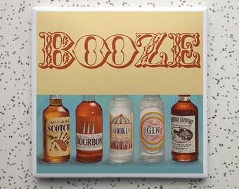 Booze Tile Coaster