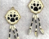 ON SALE MTO Wolf Track Earrings