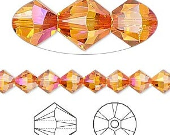 Swarovski Astral Pink Faceted Bicone Crystals 6mm 12 pcs 5328