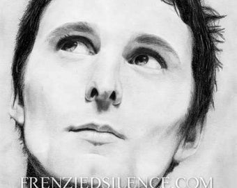 Matt Bellamy Original Portrait Graphite Drawing