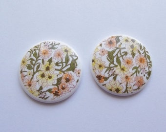 50% OFF Vintage flower meadow cabochon