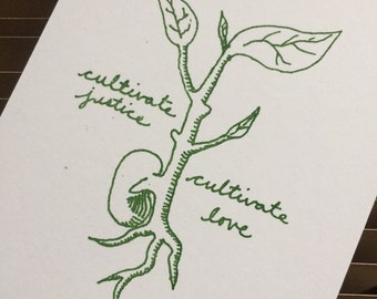 3 pack of Cultivate Justice, Cultivate Love postcards (2 for your Senators, one for your House Representative)