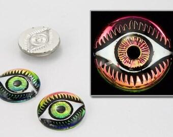 14mm Vitrail Medium Flat Eye Cabochon #EYE004