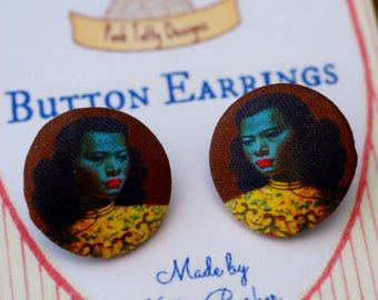 Vintage Inspired Tretchikoff Button Earrings (10)