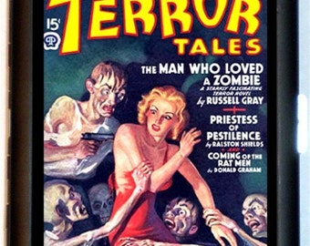 Terror Tales 1939 Pulp Magazine Zombies Cigarette Case Business Card Holder Wallet