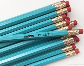 Mature Pencil Set. Office Supplies. B*tch Please. Funny Pencils. Stocking Stuffer.