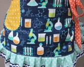 Special Order for LAURA Lelso Goolet..Womens Aprons - Science Teachers Aprons - Science Lab Aprons - Mad Scientist Aprons - Handmade Aprons