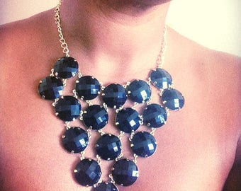 SALE Black Statement Necklace - Black Bauble Necklace - Day to Night Fashion - Big and Bold Choker- Mothers Day