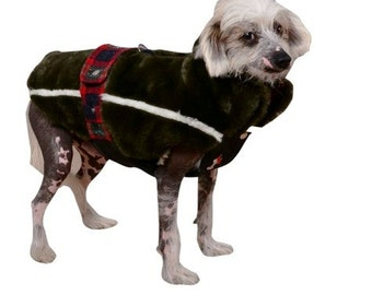 very warm for very cold winters dog  coat,individually crafted to fit any breed including dachshund ,warm faux fur