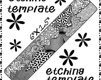 Patch Work Making jewelry Etching Patch work Cuff pattern Download DP-F-8