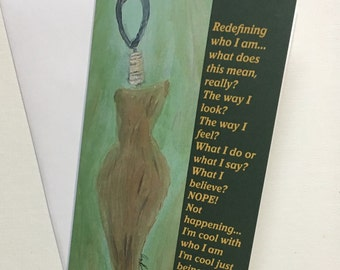 Poetry Art Card- Staying True To Who You Are