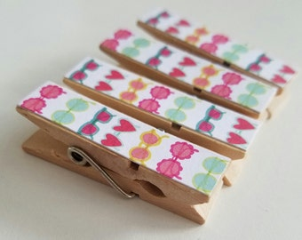 Magnets - Set of 4 - Fashion Sunglasses Clothespin Clips - Super Strong Magnets