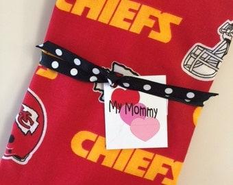 Kansas City Chiefs NFL Football Baby Girl or Boy Burp Cloth Newborn Infant Boy Girl