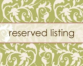 Reserved listing for Ali