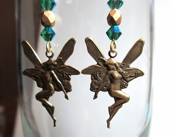 Fairy Earrings with Crystals