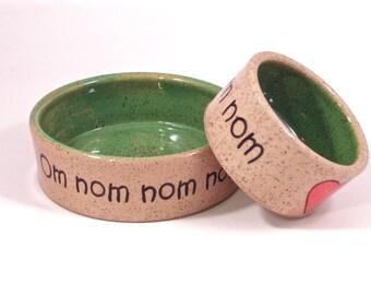 large om nom nom bowl in spring green