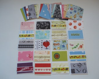 20 mixed mini cards with envelopes, mini notecards, shop thank you cards, mixed lot cards, assorted shop notecards, tiny notecards, lot 5