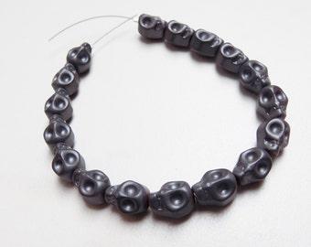 Hematite Skull beads
