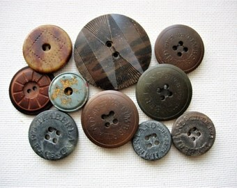 Neat Lot of Various Vintage Composition and Vegetable Ivory Buttons