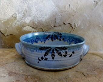 SALE - Casserole Baking Dish - Handmade Stoneware Ceramic Pottery - Sky Blue - 2 quart
