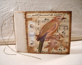 PDF Handmade Nature Journal Tutorial no shipping cost