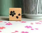 Little cherry blossom  - rubberstamp - 25x25mm // Sakura, spring flower, design stamp