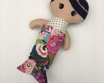 Baby Mermaid Doll, wildflowers
