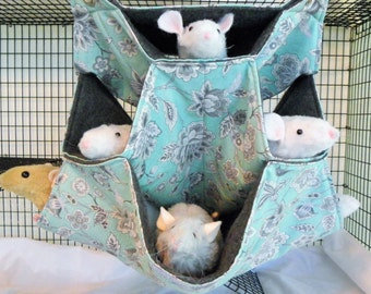Rat Hammock, 4 level honeycomb, 4 level rat Hammock,Small Animal Hammock, Hammock,Rat Bed, Rodents Hammock,Small pet hammock, rat hammock B