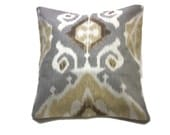Decorative Pillow Cover Ikat Design Brown Gray Grey Gold Off White TossThrow Accent 18x18 inch  x