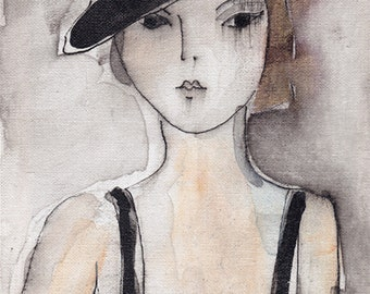 Girl with bowler hat