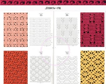 Choose one book - 100 Crochet Patterns I, II, III - Japanese Craft Book
