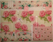 Roses Fidget Quilt Dementia Alzheimer's Activity Sensory Stroke TBI Fiddle Mat Lap Warmer Pad Busy Blanket Shabby Chic Rose Zipper Beads