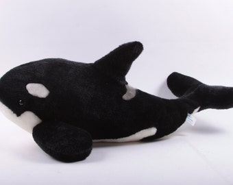 Seaworld, Plush, Stuffed Animal, Whale, Shamu, Shamoo, Vintage, Orca, Memorabilia, Gift Shop, Tag ~ The Pink Room ~ 170126