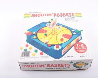 Shootin Baskets, Basketball Game, Vintage Board Game, Complete ~ The Pink Room ~ 170202