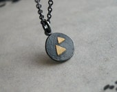 Mountain Necklace – Sterling Silver 18K Gold – Zen