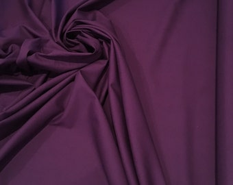 "Hibiscus Purple 100% kona cotton quilting fabric by robert kaufman woven 44"" wide k001-188 eggplant"